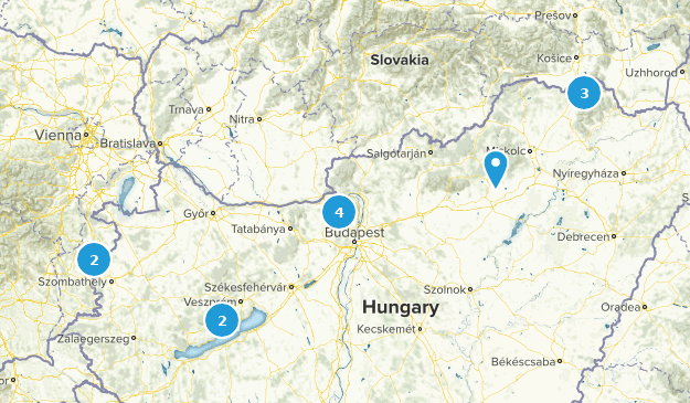 Hungary Hiking Map