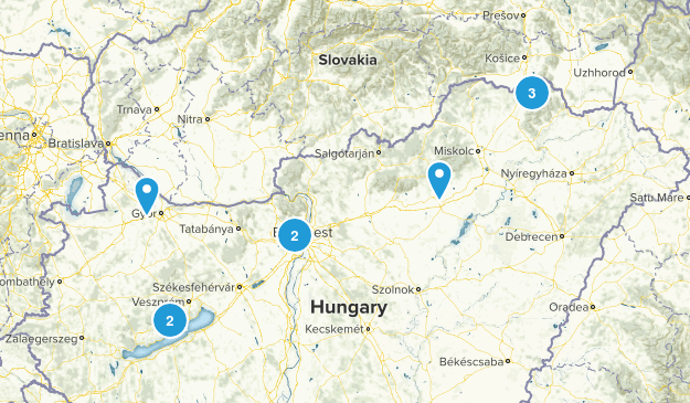 Hungary Walking Map
