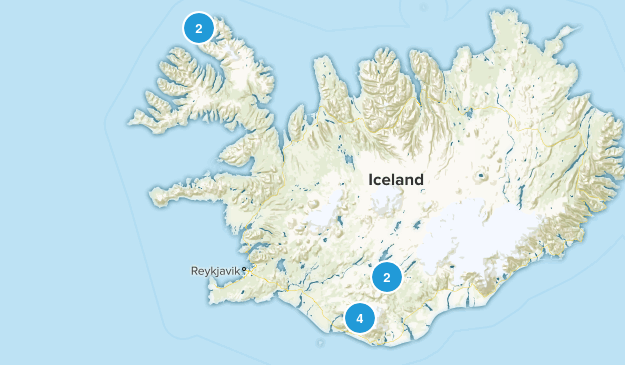 Iceland Backpacking Map