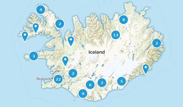Islande Bird Watching Map