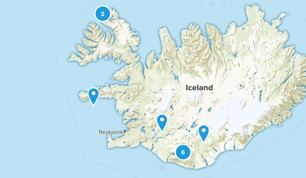 Iceland Camping Map