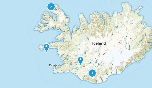 Islande Camping Map