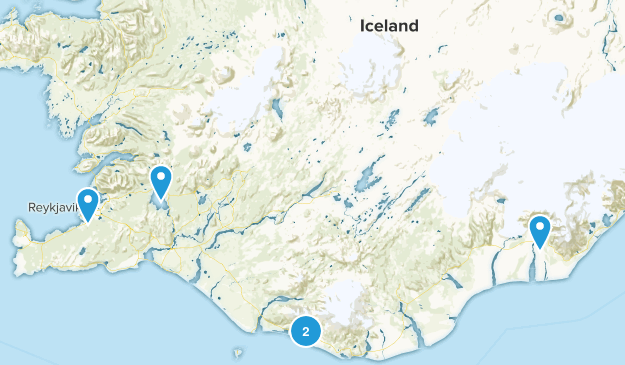 Iceland Historic Site Map