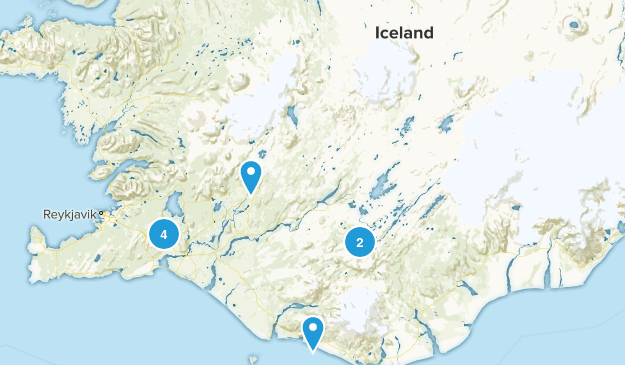 Iceland Hot Springs Map