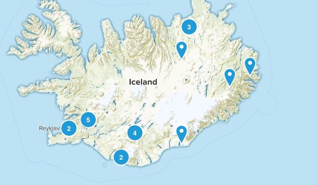 Iceland Lake Map