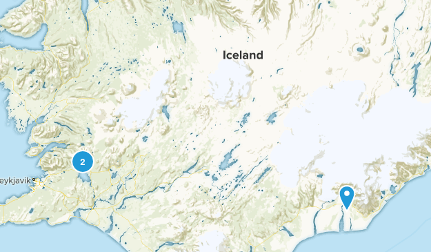 Iceland National Parks Map