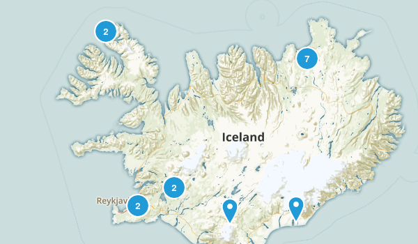 Iceland Parks Map