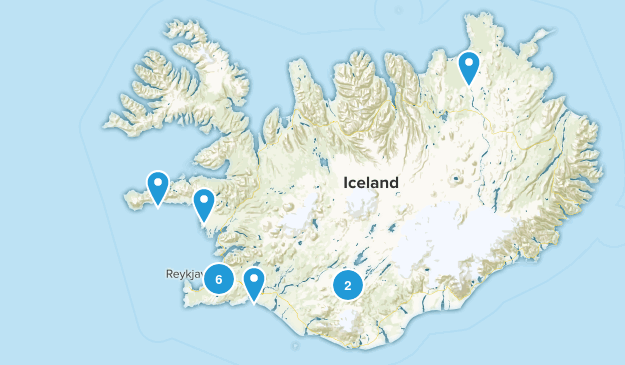 Iceland Trail Running Map