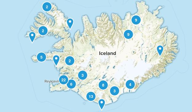 Iceland Walking Map