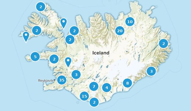 Islande Walking Map