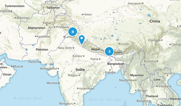 India Backpacking Map