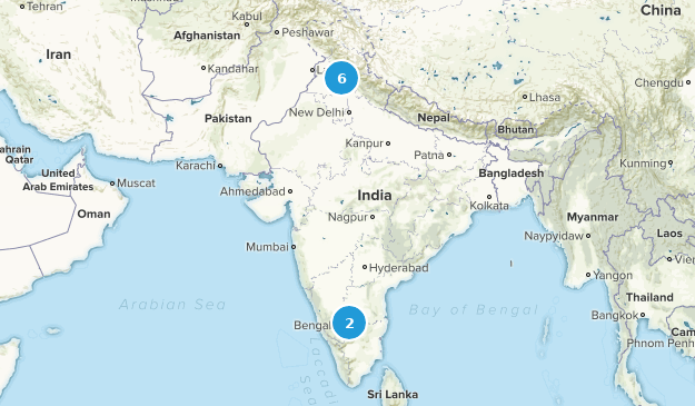 India Mountain Biking Map