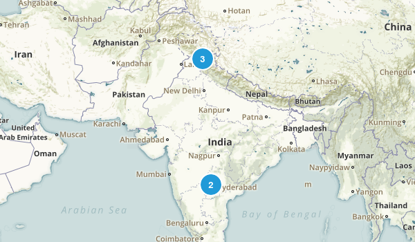 India Parks Map