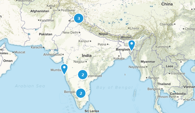 India Trail Running Map