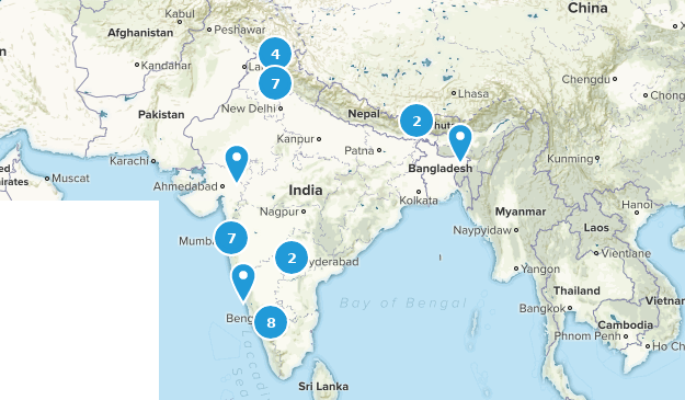 India Walking Map
