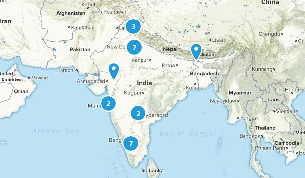 India Wild Flowers Map
