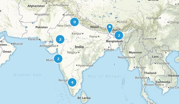 India Wildlife Map