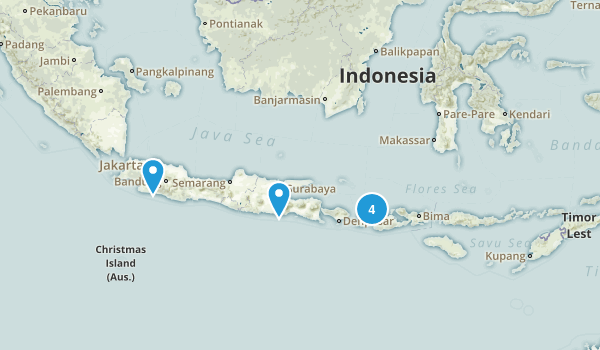 Indonesia Backpacking Map