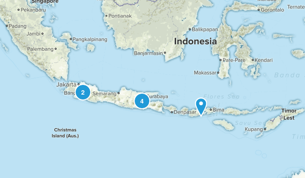 Indonesia Camping Map