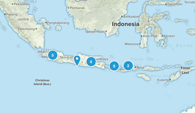 Indonesia Hiking Map