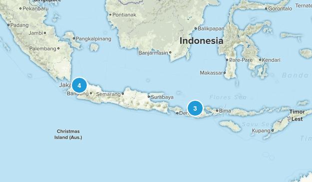Indonesia Mountain Biking Map