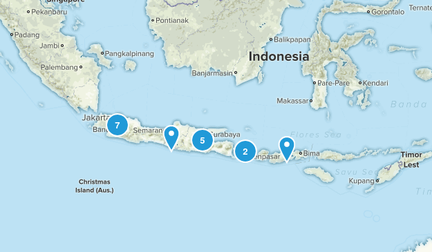 Indonesia Nature Trips Map