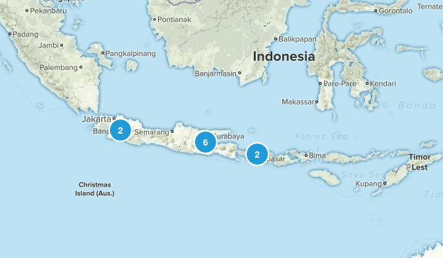 Indonesia Trail Running Map