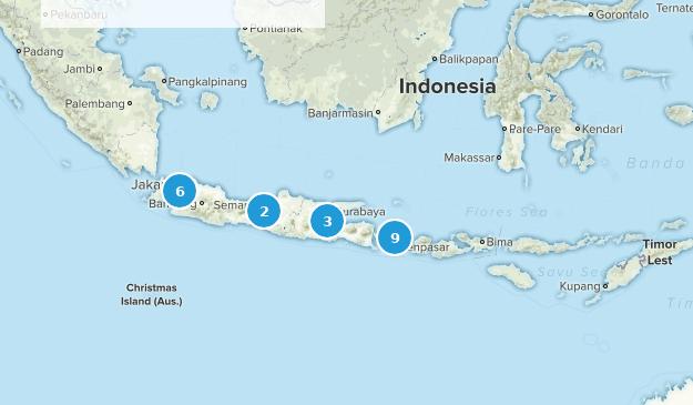 Indonésie Walking Map