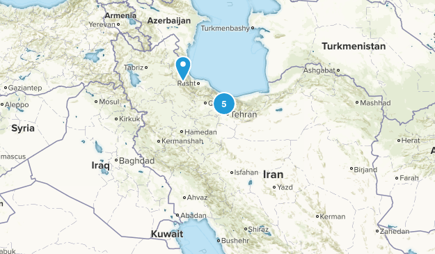 Iran Hiking Map
