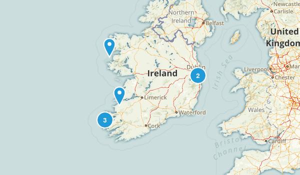 Ireland Beach Map