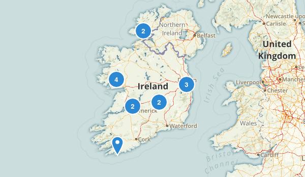 Ireland Dogs On Leash Map