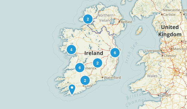 Ireland Dogs On Leash Map