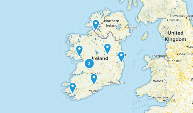 Ireland Fishing Map
