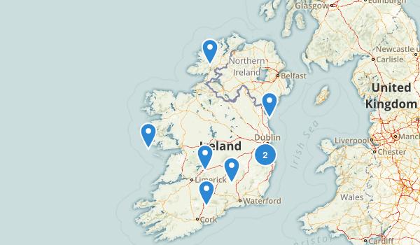Ireland Mountain Biking Map
