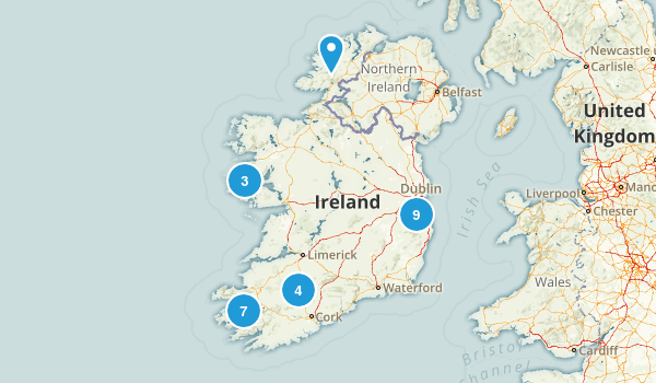Ireland Parks Map