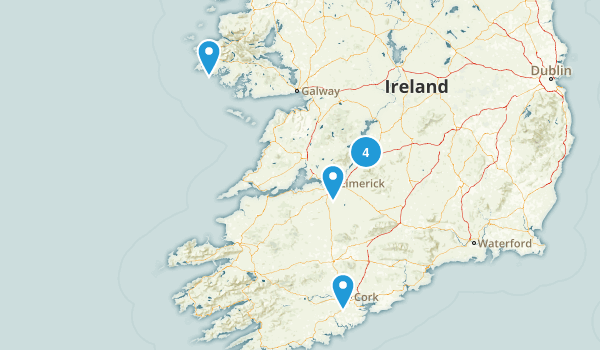 Ireland Road Biking Map