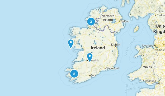 Ireland Scenic Driving Map