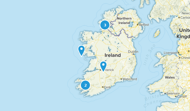 Map Of Ireland For Driving.Best Scenic Driving Trails In Ireland Alltrails