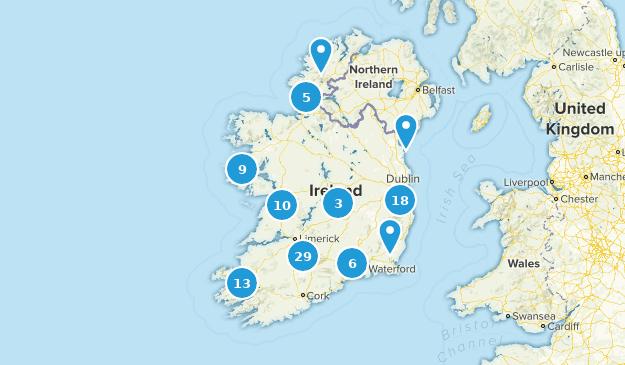 Irlande Trail Running Map
