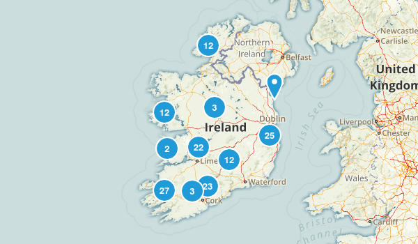 Ireland Walking Map