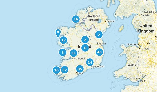 Ireland Walking Map