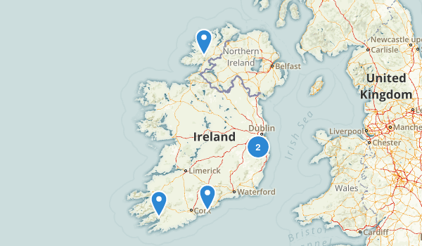 Ireland Waterfall Map