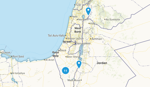 Israel Dogs On Leash Map