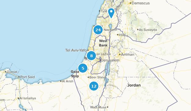 Israel Mountain Biking Map