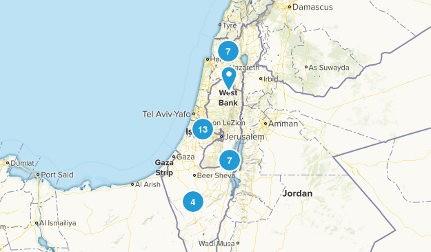 Israel Parks Map