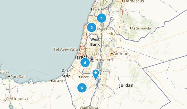 Israel Trail Running Map