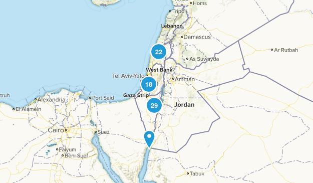 Israel Walking Map