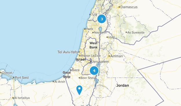 Israel Waterfall Map