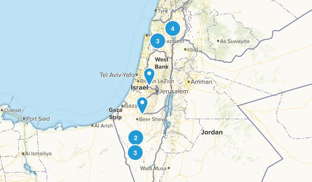 Israel Wild Flowers Map