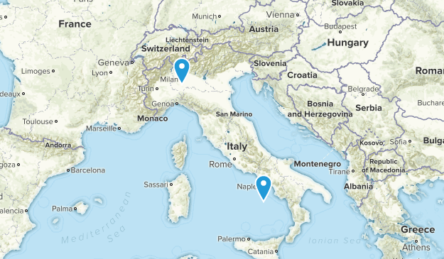 Italy Local Parks Map